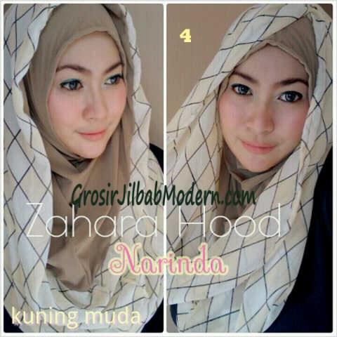 Jilbab Hoodie Instant Zahara Hood No 4 Kuning Muda