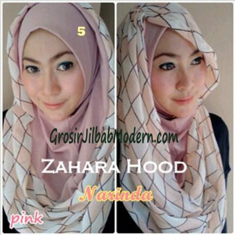 Jilbab Hoodie Instant Zahara Hood No 5 Pink