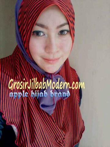 Jilbab Syria Deeba No. 05 Merah dan lavender