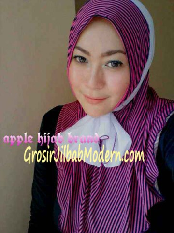 Jilbab Syria Deeba No. 07 Magenta dan putih