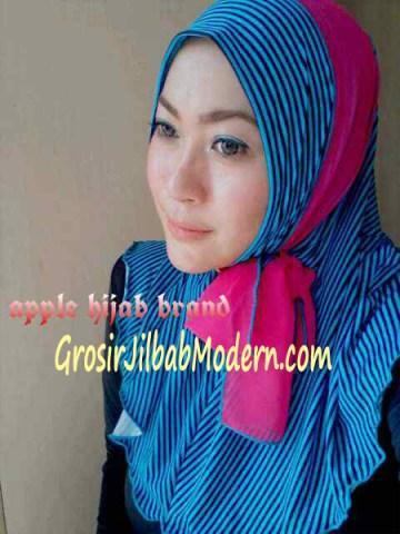 Jilbab Syria Deeba No. 09 Biru tosca dan fanta
