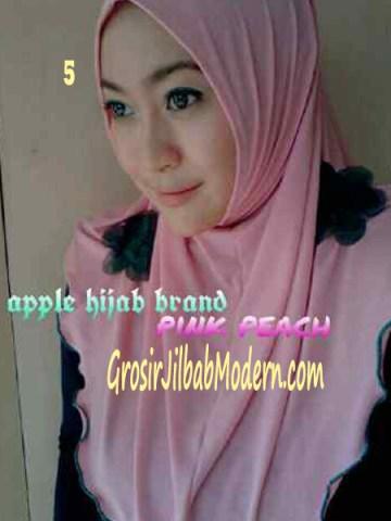 Jilbab Syria Simplity Rose No 5 Pink Peach