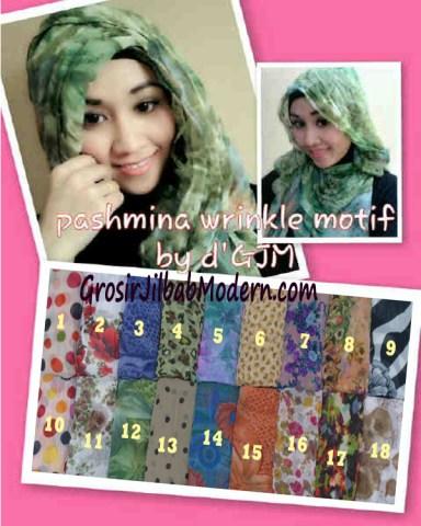 Pashmina Wrinkle Motif Series, Pashmina Kusut Motif