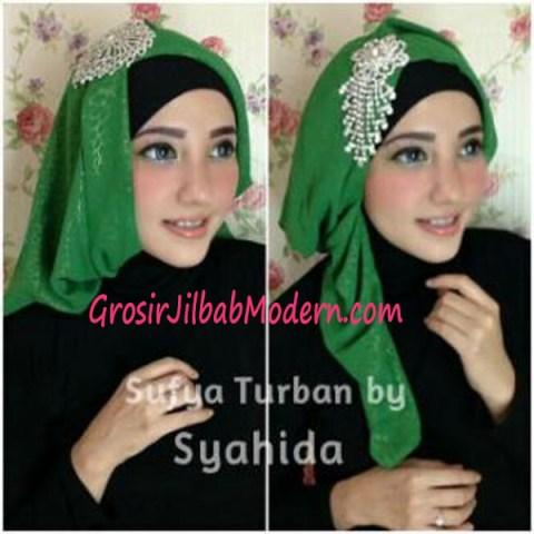 Turban Pesta Sufya Exclusive by Syahida Hijau