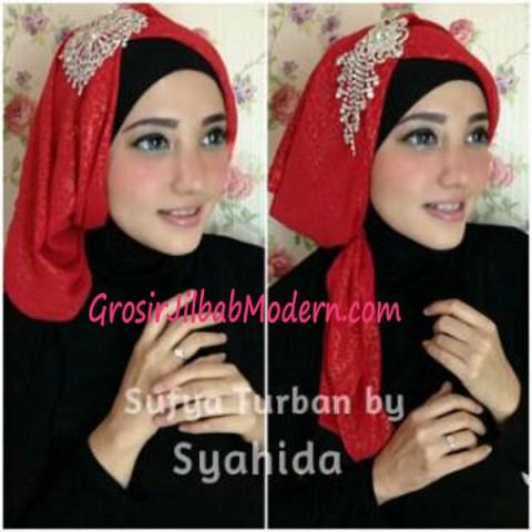 Turban Pesta Sufya Exclusive by Syahida Merah