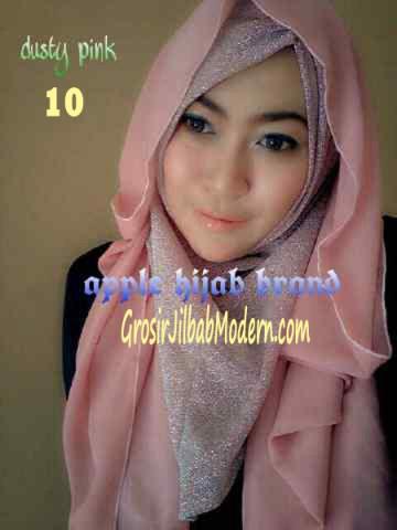 Jilbab Exclusive Jolie Gliter No 10 Dusty Pink