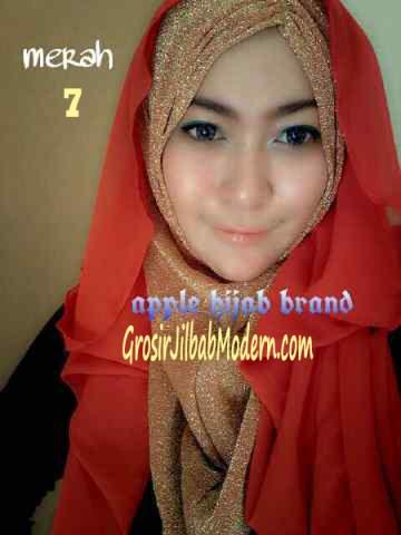 Jilbab Exclusive Jolie Gliter No 7 Merah