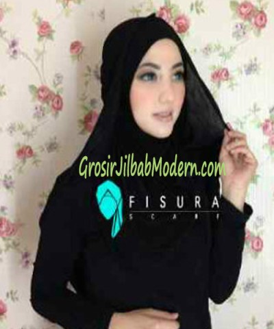Jilbab Syria Dhella No 04 Hitam