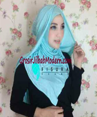 Jilbab Syria Dhella No 08 Biru Muda