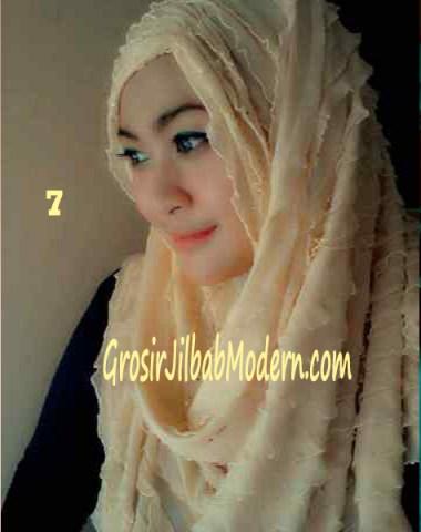 Jilbab Syrpash Ruffle Sparkling No 7 Kuning