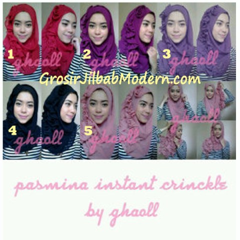 Pashmina Instant Crinkle by Ghaoll Series