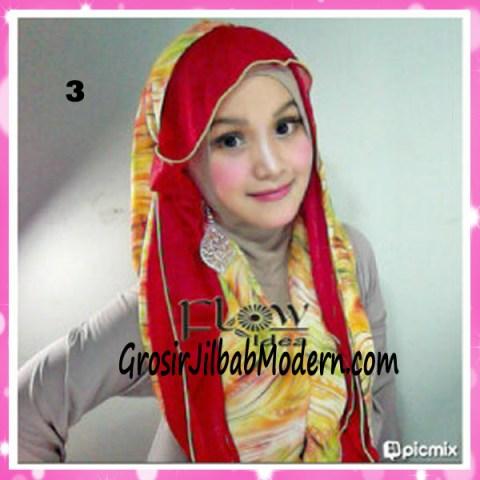 Jilbab Hoodie Scarft by FLOW No 3 Merah