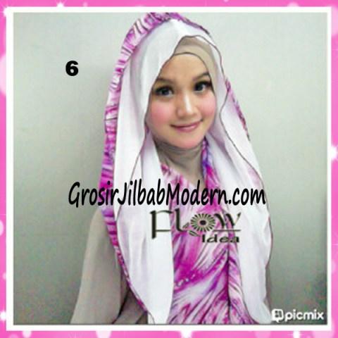 Jilbab Hoodie Scarft by FLOW No 6 Putih