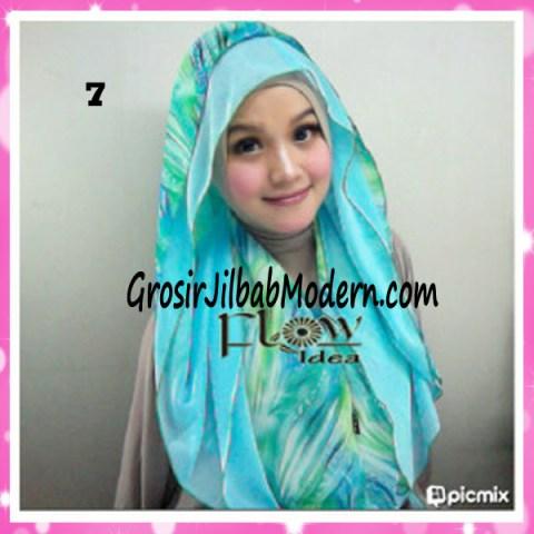 Jilbab Hoodie Scarft by FLOW No 7 Toska Muda