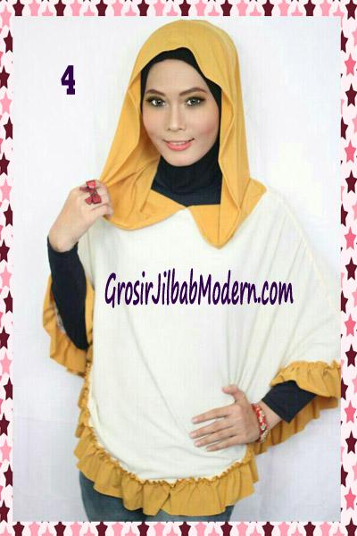 Jilbab Jumbo Capuchon No 4 Broken White