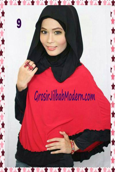 Jilbab Jumbo Capuchon No 9 Merah