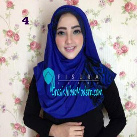 Jilbab Syria Lindsey No 4 Biru Benhur