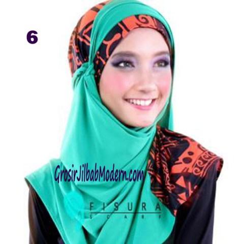 Jilbab Syria Lindsey No 6 Hijau