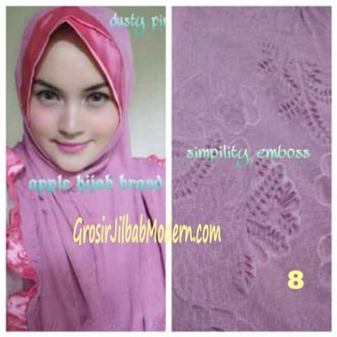 Jilbab Syria Simplity Emboss No 8 Dusty Pink