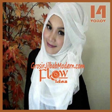 Jilbab Syria Voilov by Flow No 14 Putih