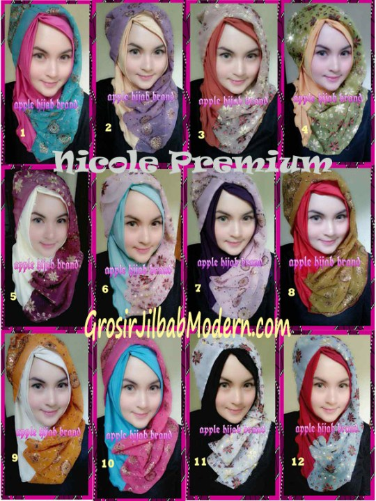Jilbab Syrpash Instant Nicole Premium by Apple Hijab Brand Series