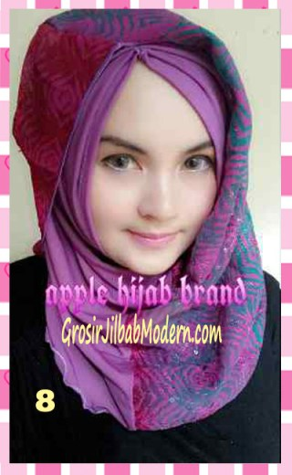 Jilbab Syrpash Instant Nicole by Apple Hijab Brand No 8