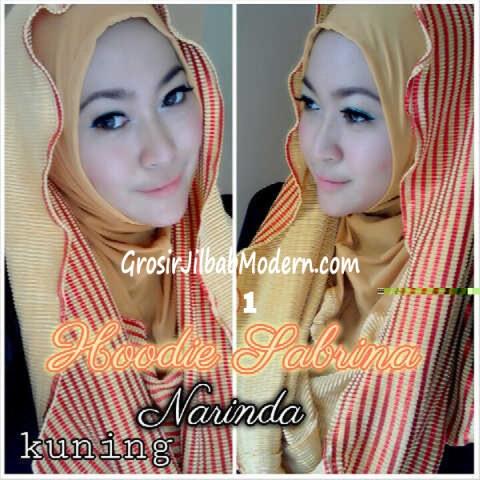 Jilbab Hoodie Bolak Balik Sabrina by Narinda No 1 Kuning