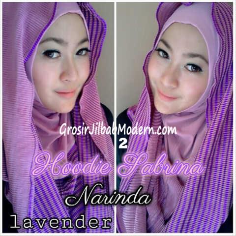 Jilbab Hoodie Bolak Balik Sabrina by Narinda No 2 Lavender