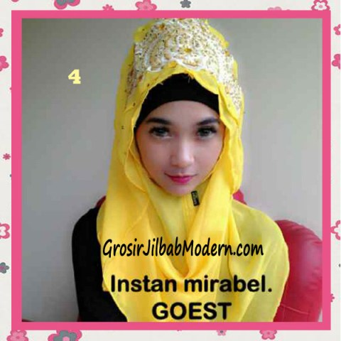 Jilbab Instant Mirabel Original by GOEST No 4 Kuning