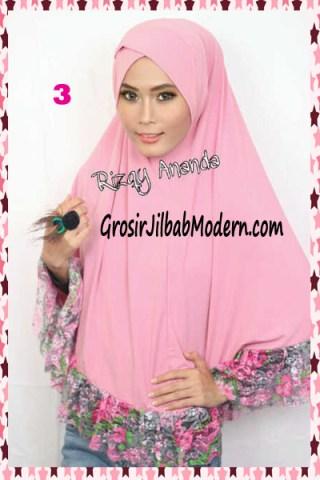 Jilbab Jumbo Brokat Stephanie No 3 Pink Muda