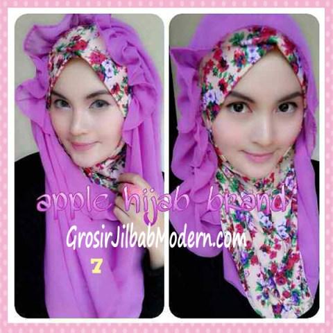 Jilbab Syria Hoodie Flowerist No 7 Lavender