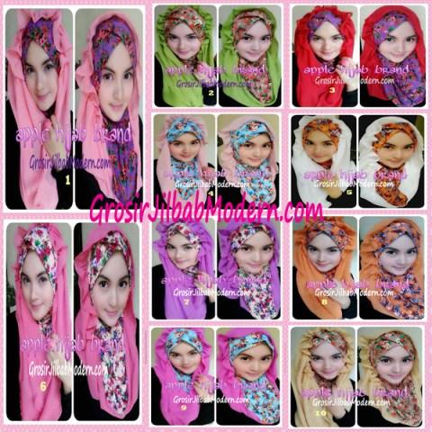 Jilbab Syria Hoodie Flowerist Series