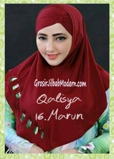 Jilbab Syria Modis Nuha Original By Qalisya No 16 Marun