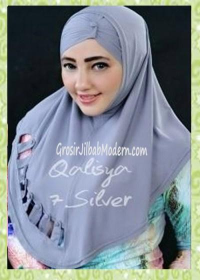 Jilbab Syria Modis Nuha Original By Qalisya No 7 Silver
