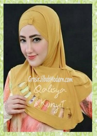 Jilbab Syria Modis Nuha Original By Qalisya No 8 Kuning Kunyit