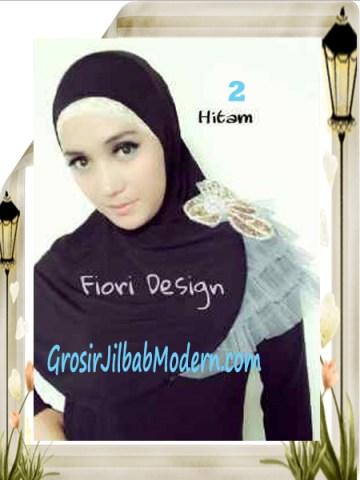 Jilbab Syria Modis Nuuha by Fiori Design No 2 Hitam