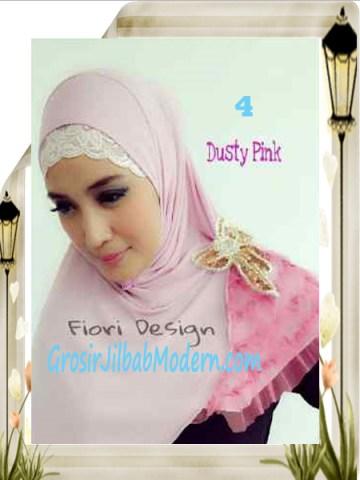 Jilbab Syria Modis Nuuha by Fiori Design No 4 Dusty Pink