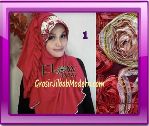 Jilbab Bergo Pet Maryam Original by FLOW Idea No 1 Merah