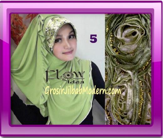 Jilbab Bergo Pet Maryam Original by FLOW Idea No 5 Hijau