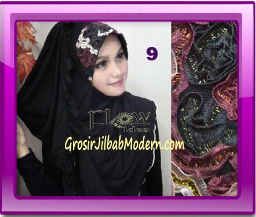 Jilbab Bergo Pet Maryam Original by FLOW Idea No 9 Hitam