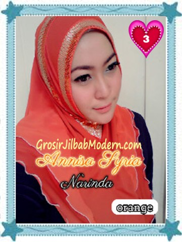 Jilbab Syria Annisa by Narinda Modis No 3 Orange