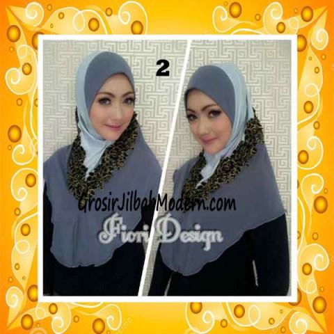Jilbab Syria Daniah Cantik By Fiori Design No 2 Abu