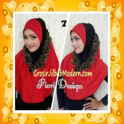 Jilbab Syria Daniah Cantik By Fiori Design No 7 Merah