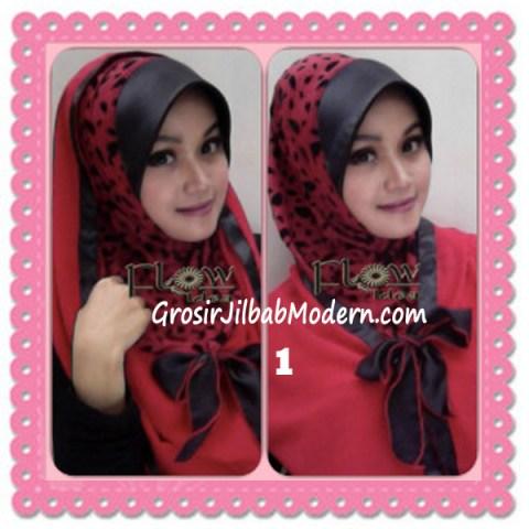 Jilbab Syria Hoodie Savana Trendy by Flow Idea No 1 Merah