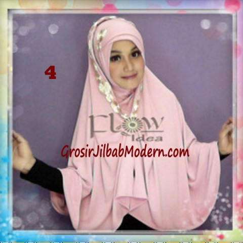 Jilbab Syria Jumbo Faizia Modis Original by FLOW Idea No 4 Peach