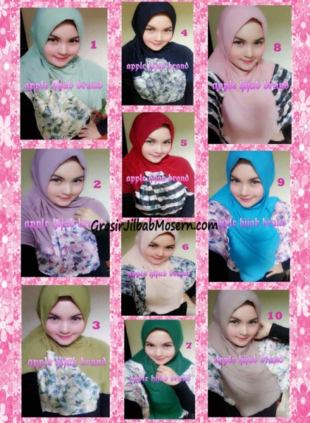 Jilbab Syria Kyle Frill Original by Apple Hijab Brand Series