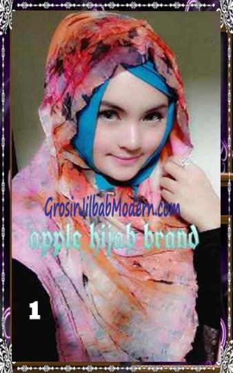Jilbab Syrpash Claudia Frill  by Apple Hijab Brand No 1