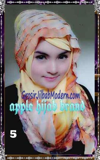Jilbab Syrpash Claudia Frill  by Apple Hijab Brand No 5