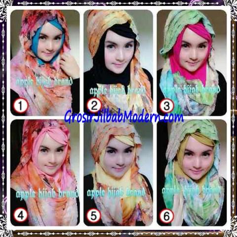 Jilbab Syrpash Claudia Frill  by Apple Hijab Brand Series