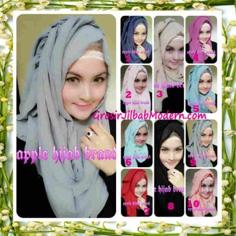 Jilbab Instant Aleeza Pasyir Crinkle By Apple Hijab Brand Series